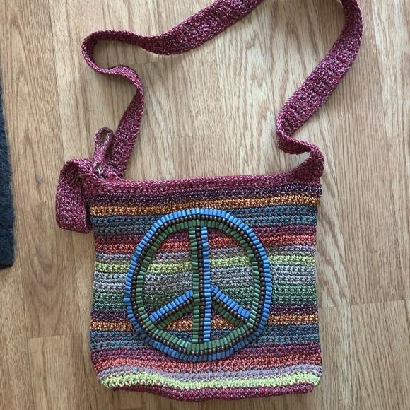 The Sak Bags Peace Sign Crochet Crossbody Poshmark
